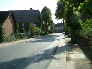 Kirchstrasse in Richtung Dorfmitte